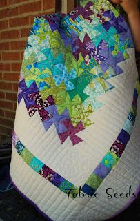 Fabric Seeds: li'l twister quilt; love the colors