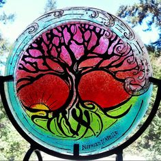 Check out this item in my Etsy shop https://www.etsy.com/listing/241622413/tree-of-life-cremation-ashes-in-glass