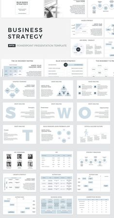 Business Strategy PowerPoint - A business strategy, in simple terms, is a documented plan on how an organization is setting out to - Business Presentation Templates, Business Plan Template, Presentation Design, Business Plan Outline, Action Plan Template, Marketing Plan Template, Simple Business Plan, It Management, Business Management