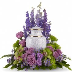 flowers with urn