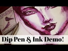 When I was in Vancouver last week, I went to 2 different amazing pen shops and picked up this beautiful dip pen and some purple Noodler's Ink. Sketchbook Ideas, Sketchbook Inspiration, Dip Pen Ink, Karen Campbell, Noodlers Ink, Expensive Art, Pen Shop, Toned Paper, India Ink