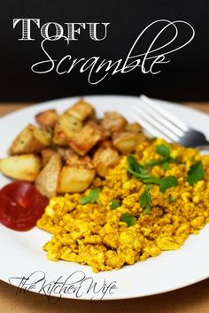 A delicious, plant-based, alternative to one of your breakfast favorites.  Easy Tofu Scramble.