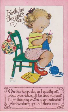 Mabel Lucie Attwell card | eBay : I remember these figures from when I was a little girl!