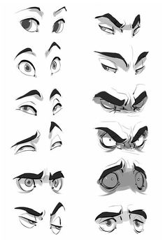 Face Drawing Reference, Art Reference Poses, Art Poses, Drawing Poses, Friends Drawing, Drawing Cartoon Faces, Angry Cartoon Face, Angry Anime Face, Anime Face Drawing