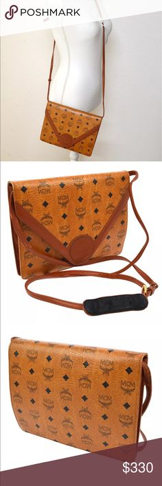 "Authentic MCM Crossbody Perfect vintage everyday crossbody made by MCM in Germany. Adjustable shoulder drop Shoulder Drop. 23.6 - 30.3 "". Size-10"" by 9"". Small scuffs in leather and aging. MCM Bags Crossbody Bags"