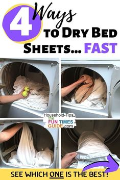 How To Dry Sheets Faster - Want to know how to dry a bed sheet FAST?... I've found it! I did an experiment to calculate the actual time spent drying, untangling, re-separating, and re-drying bed sheets using each of the following methods: 1) Put all sheets into the dryer at one time. 2) Put wool dryer balls / tennis balls in with the sheets. 3) Put a dry towel in with the sheets. 4) Put only one bed sheet at a time in the dryer. See which of these methods is the fastest way to dry bed…