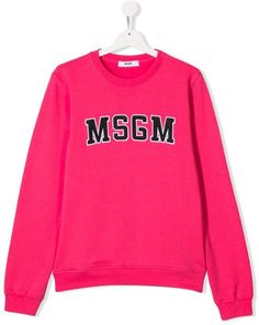 ffb33a0c59d06 MSGM Kids TEEN logo print sweatshirt