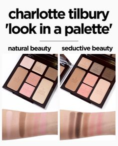Charlotte Tilbury Instant Look In A Palette comparison swatches