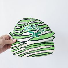 Vintage Eagles Hand Screen Printed Snap Back Flat Brim Hat by PrinceWednesday on Etsy