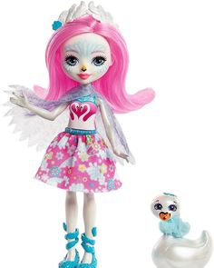 Saffi Swan & Poise Let the adorable Enchantimals dolls and their animal friends enchant you This lovable Saffi Swan doll shares a special bond with her animal swan friend Poise -- they're. Beanie Boo Dogs, Lol Doll, Mattel, Popular Toys, Blue Wings, Halloween Doll, Barbie Accessories, Monster High Dolls, Cute Kids