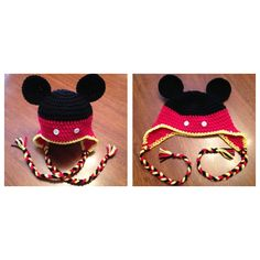 Mickey Mouse crochet hat