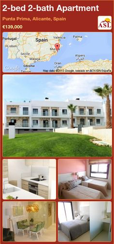 Apartment for Sale in Punta Prima, Alicante, Spain with 2 bedrooms, 2 bathrooms - A Spanish Life Apartments For Sale, Valencia, Portugal, Alicante Spain, Walk In Shower, Best Location, Beautiful Bathrooms, Apartment Design, Palmas