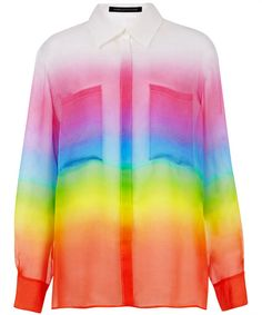 Christopher Kane rainbow shirt from Liberty.