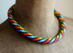 3 in 1 Necklace Multipattern Necklace Colorful by HeriniaJewelry