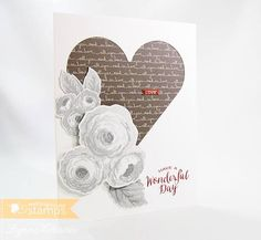 Old Country Roses by Lynn in St. Louis - Cards and Paper Crafts at Splitcoaststampers Grey Roses, All You Need Is Love, Clear Stamps, Wedding Anniversary, Wedding Cards, Card Making, Paper Crafts, Valentines, My Favorite Things