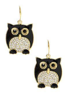 Chubby Owl Earrings Omg these r ADORABLE