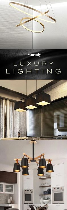 Modern Luxury Lighting at 50 Off (or more) Luxury Lighting, Interior Lighting, Home Lighting, Modern Lighting, Lighting Design, Home Room Design, Home Interior Design, House Design, Home Decor Lights
