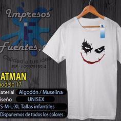 #franelas #personalizadas #diseños #estampados #vendemos #calidad #joker #jokerfans #comodin #villano #batman