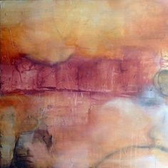 A Line Above the Fold by Chris Foster Mixed Media on Canvas 30 in  x 30 in