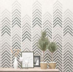 Geometric wall art stencil. Allover stencil for your DIY decor project