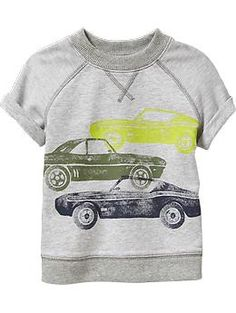 Short-Sleeved Graphic Sweatshirts for Baby