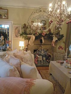 Holidays, Mary Christmas, Pastels, Silvers & Whites... all deorated for Christmas!