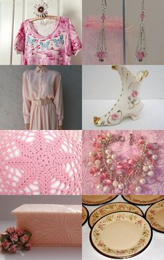 """The Softness of Pink"" by DaysGoneByTreasures --Pinned with TreasuryPin.com"