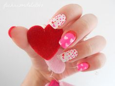 Lovely Valentine's Day nails!