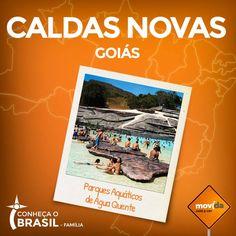 Você sabia? Caldas Novas e a cidade vizinha, Rio Quente, formam, juntas, a maior estância hidrotermal do mundo.   Lá a diversão é garantida! #VáDeMovida