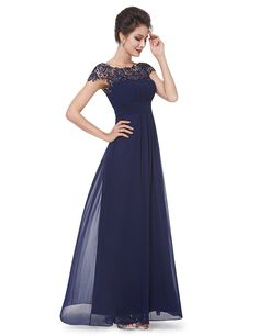 3b1a6fd64b3 Navy Blue Lacey Neckline Open Back Ruched Bust Evening Dress. Πελαγία  Ζωγόγιαννη · wedding dresses