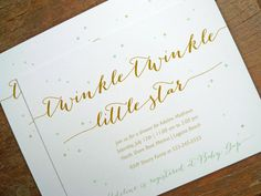 Twinkle Twinkle Little Star Baby Shower Invitation by notesbyred