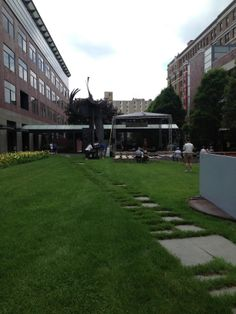 University of Michigan #detroit lawn getting ready for Concert of Colors 2013 #coc2013 #midtown #detroit