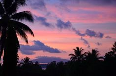 Sunset over Wewak by yumievriwan, via Flickr