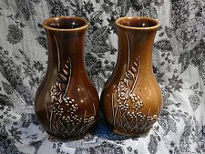 A Pair Of Honiton Pottery Vases 13cm In Height
