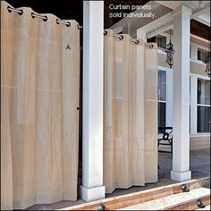 New Coolaroo Indoor Outdoor Curtain Panels W/ Tie Back Mocha Or Pebble