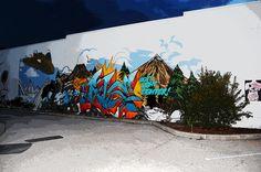 """Wall Art! :D Public graffiti mural, I call """"Super Hero"""""""