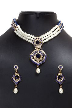 Discover Indian Jewellery Sets, Wedding & Bridal Jewellery Collection, and Casual Alloy Jewelry Online, Get wide range of Women Jewellery Designs at best price range by Andaaz Fashion. Indian Necklace, Jewelry Necklaces, Jewellery, Diamonds And Gold, Necklace Online, Matching Necklaces, Party Wedding, Stone Jewelry, Necklace Set