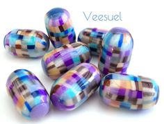 Cape Cod beads by Veesuel, polymer clay.