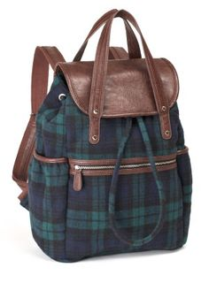Blackwatch Plaid Wool Backpack