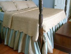 I'm attempting to make a dust ruffle for our bed. Looking for easy ideas.