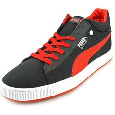 Puma Stepper Classic Hyper 90s Women Sneakers ($29) ❤ liked on Polyvore featuring shoes, sneakers, black, puma shoes, puma sneakers, kohl shoes, black sneakers and black trainers
