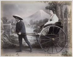 C 1880's Photo Japan Girl in Jinrikisha | eBay
