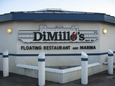 "Portland, Maine  DiMillo's is a former ferry boat. It rises and falls with the tide. (Once saw Jerry Mathers - ""Beaver"" Cleaver - there.)"