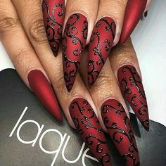 #Repost @nail_me_good_ with @repostapp ・・・ Feeling all kinds of Gothic vibes from these nails by @laquenailbar. • • • #nailsdid #wedding #almondnails #nailsonfleek #nailartaddict #nailaholic #nailgasm #naildesign #nailstagram #nailprodigy #nailfie #pic #coffinnails #bling #nailswag #instanails #nailstoinspire #stilettonails #nailaddict #blingnails #nailsoftheday #fashionaddict #nailsofinstagram#naildesigns #fashiongram #sparkle #reddstyles #gothic #black  A FEATURE