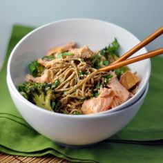 Soba Bowls with Tea-Poached Salmon from @Sara Forte's The Sprouted Kitchen cookbook