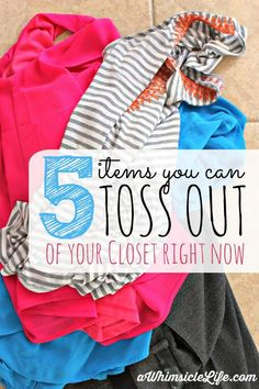 Great DIY Idea to make space in you closet and organize your clothes! Get rid of what you don't need and look great