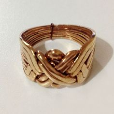 8 Band Bronze Authentic Turkish Puzzle Ring - Bronze Ring- Sizes 8-14 #Dimenticare #Band