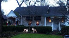 mom's cute new cottage house perfectly decorated for christmas <3