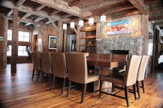 Love that rustic feel! #diningrooms  #rusticdiningrooms homechanneltv.com
