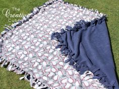 No-Sew Fleece Blanket Tutorial - The Creative Cubby - {Would be cute with football print too!} --- Too cute!  Need to make this.